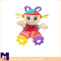 high quality baby animals to appease towel with teether plush toys