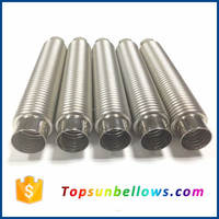 Flanged flexible bellows type expansion joint stainless steel bellows pipe