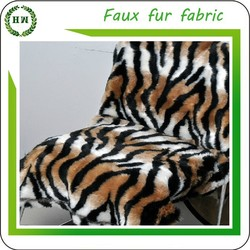 Hongway Ready Goods, 100% polyester Tiger Skin faux fur fabric for toys blanket garment