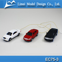 1:75 scale Ho handmade adult toy cars, Luminous model cars, plastic car model with lighting