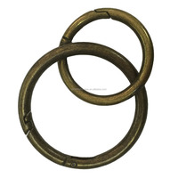 Fashion High Quality Metal Antique Brass Rings For Purse