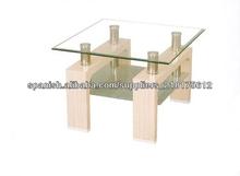 fashional estilo caliente venta tapa de cristal mesa de laca de madera mesa para la venta