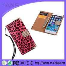 Magnetic PU Leather Leopard Print Cell Phone Case With Card Holder Slot