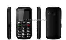 "vk002 MTK6260/MTK6261 1.77"" Elder People Mobile Phone Big keyboard Big Fonts FM Radio No Camera Single SIM Cell Phone Gray"