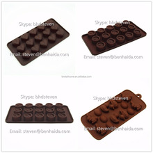 Cute Series Eco-friendly Handmade Silicone Number Shape Chocolate Mold
