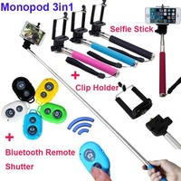 New gadgets 2015 self-time stick for iphone samsung with high quality bluetooth remote