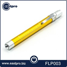 OEM ODM factory yellow white or UV LED aluminum alloy rechargeable pen light