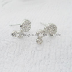 Contemporary top sell shiny sterling silver magnetic earring