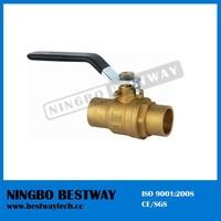 Lead free solder end 600 wog brass ball valve