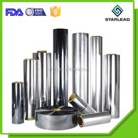 VM-PET, PET film metallized with aluminum vapor deposition, Silver barrier PET Film