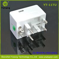 International USB Adapter for Travel with USA/UK/Australia/European