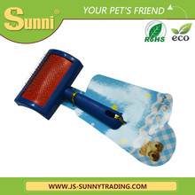 Fashion design blade ionic pet brush and vacuum pet brush for export