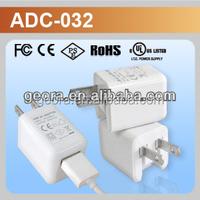 Hot Selling Mini Size 5V1A USB Power Adapter USA plug folding type