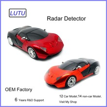 Car Radar detector Red Color 16 Band 360 Degree with Laser Russian / English Warning Vehicle Speed Control E dog