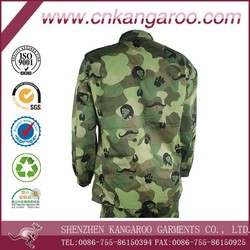 TC Rip-stop Breathable Twill Lion/Cow Pattern Camouflage Green BDU Navy Uniform