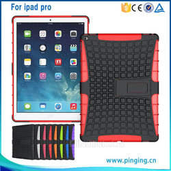 2015 new products combo hybrid case for iPad pro, hybrid case for iPad pro