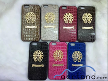 Luxury Genuine Leather Crocodile Skin Back Hard Case Chrome Hearts Case for iPhone 6 6plus