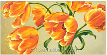 Yellow Flower Oil Painting home decoration On Canvas