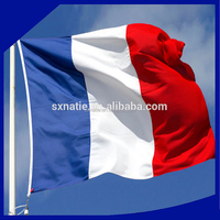 "Good quality 3*5"" red white blue polyester france flag"