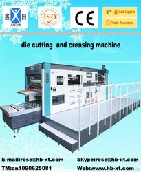 flatbed die cutter creasing and embossing equipment manual die cut machine corrugated cardboard & box making equipments
