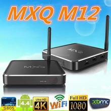 Distinctive Metal tv box MXQ M12 set top box Amlogic S805 Alunminum case h 265 Quad core Android 4.4 TV Box M12