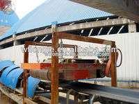 Suspension permanent magnetic iron separator for conveyor belt