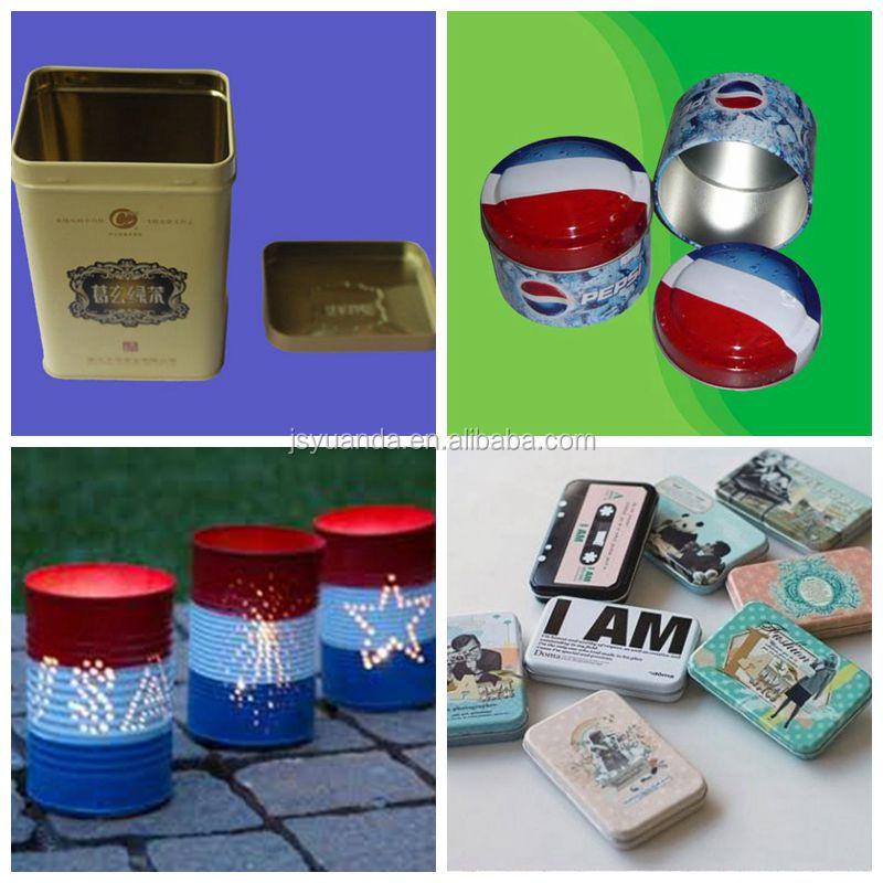 Alta qualidade bonito lancheira de lata com punho plástico e metal bloqueio