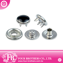 Jeweled Pearl Prong Snap Fastener Buttons