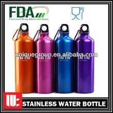 750ml Carabiner Lid Bpa Free Customized Aluminum Water Bottle