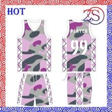 2015 fashion womens Basketball uniform high quality