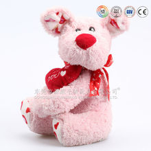 China OEM/ODM Manufacturer plush dog toy with red heart