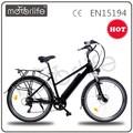 "Motorlife / OEM EN15194 2015 caliente venta 36 v 250 w 26 "" e bike con interior de litio batería extraíble"