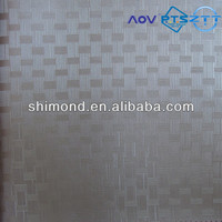 Bamboo weaving Style Striped Pattern Embossing PVC Leather For Funiture