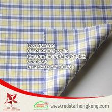 fashion new style yellow checks cotton comfortable textile