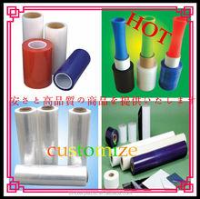 Factory price customize clear pe plastic film/ transparent pe plastic film/pe film protecting safety warning tape