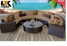 bali outdoor furniture Modern Designer Outdoor 7 Piece Lounge Sofa Rattan balcony sofa set