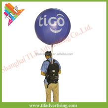 Popular Inflatable Backpack events display Ball/advertising lighted balloon