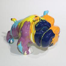 Bulldog resin animal sculpure home decor