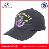 navy blue cotton embroidery cheap baseball cap with metal strap wholesale
