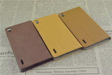 Slim PU leather case for Huawei P7 ultra thin cover