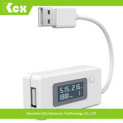 KCX-017 lcd digital usb charger capacity current voltage tester meter usb 2.0 voltage current multimeter