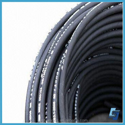 used car and truck accessory black NBR material Single high tensile steel wire braid hydraulic rubber hose
