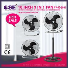 """18"""" industrial pedestal fan metal blades 3 in 1 industrial stand fan industrial stand fan FS-45-S001"""