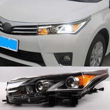 B4G07Auto ABS 12V LED Headlight For Toyota Corolla 2013 2014 2015 Head light