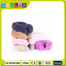 Fashion memory foam airplane car rest travel neck pillow