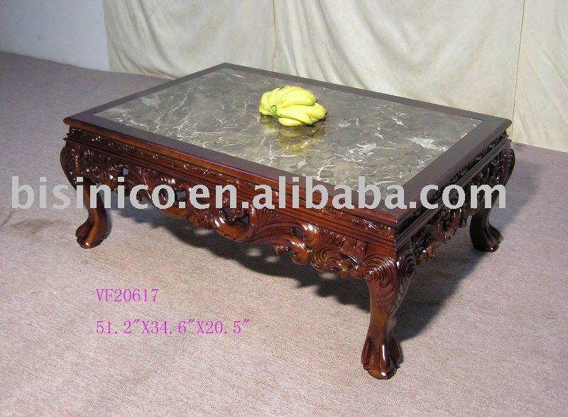Antique style table basse, Bois massif table basse