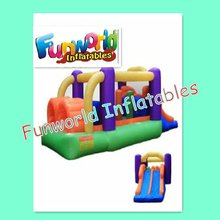2012 new design inflatable obstacle course games with slide (OBS-272)
