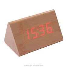 clock led fan clcok led for kids Hot selling cube led wooden clocks wooden cube led clock led digital wooden desk clock