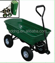 Roll Container Structure and Tools Usage garden cart Plastic tipper cart