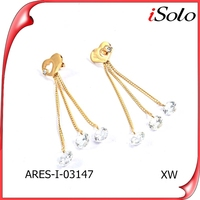 Jewelry parts and accessories 2015 trend zircon earrings for girls